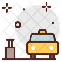 Bags Taxi Travel Cab Booking Icon