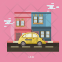 Taxi Car Tranportation Icon