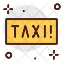 Taxi Taxi Stand Taxi Board Icon
