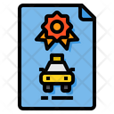 Taxi Certificate Icon