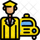 Taxi Service Driver Icon
