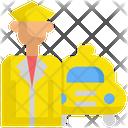Taxi Driver Service Icon