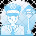 Taxi Driver Motorist Chauffeur Icon