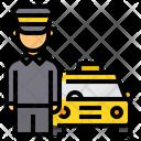 Taxi Driver Customer Driver Icon