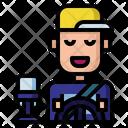 Taxi Driver Taxi Service Icon