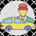 Taxi Driver Car Icon