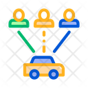 Car Online Taxi Icon