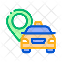 Taxi Destination Online Icon