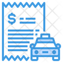 Taxi Payment Bill Icon