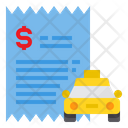 Bill Payment Taxi Icon