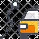 Taxi Segment Path Navigation Icon