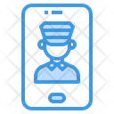 Taxi Service Call Center Message Icon