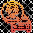 Operator Taxi Customer Service Icon