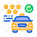 Taxi Service Rating Icon