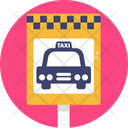 Public Transport Taxi Sign Icon