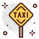 Sign Taxi Stand Taxi Signboard Icon