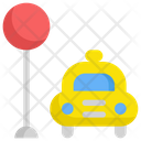 Taxi Stop Service Icon