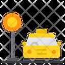 Taxi Stop Taxi Cab Icon