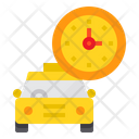 Taxi Clock Transport Icon