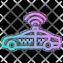 Taxi Car Track Icon
