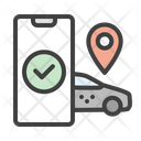 Taxi Tracking Icon
