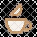 Tea Lemon Cup Icon