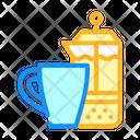 Tea Cup Color Icon