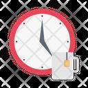 Break Time Clock Icon