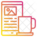 Mobile Cup Marketing Icon