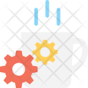 Tea Cup Cogwheel Icon