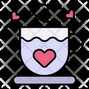 Tea Heart Coffee Cup Icon
