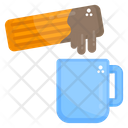 Tea Time Tea Cup Dipped Biscuit Icon