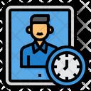 Teacher Online Learning Tablet Icon