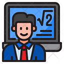 Mat Laptop Learning Icon