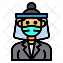 Teacher With Face Shield Icon