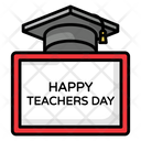 Teachers Day Happy Teachers Day Celebration Board Icon