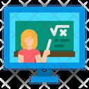 Teaching Online Tutor Elearning Icon