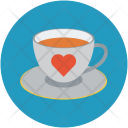 Teacup With Heart Icon