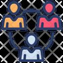 Team Team Leader Team Network Icon