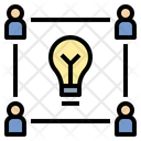 Team Idea Thinking Icon