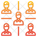 Networking Team Recruit Icon