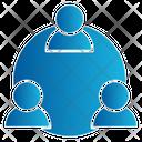 Team Employees Teamwork Coordination Icon