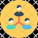 Team Hierarchy Collaboration Icon