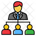Business Network Businessman Connections Business Interconnection Icon