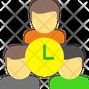 Team Clock Team Target Icon