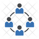 Teamwork Group Connector Icon