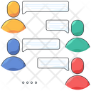 Team Discussion Chat Collaboration Icon