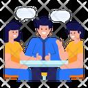 Team Discussion Team Chatting Conversation Icon