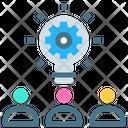Settings Team Brainstorming Icon