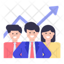 Employees Growth Team Growth Career Growth Icon